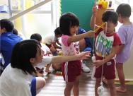 中学生との体験学習